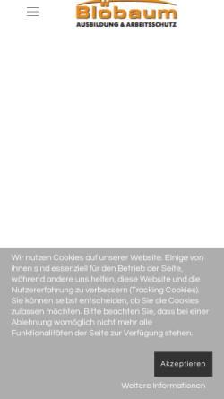 Vorschau der mobilen Webseite www.ausbildung-arbeitsschutz.de, Ausbildung und Arbeitsschutz, Inh. Frank Blöbaum