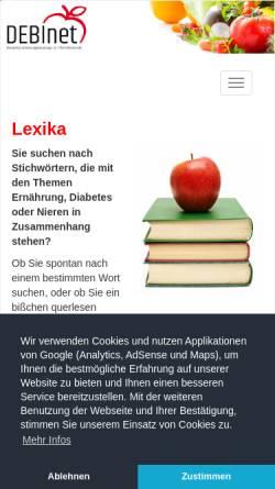 Vorschau der mobilen Webseite www.ernaehrung.de, DEBInet