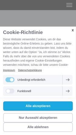 Vorschau der mobilen Webseite www.krebsinfo.at, Krebsinfo