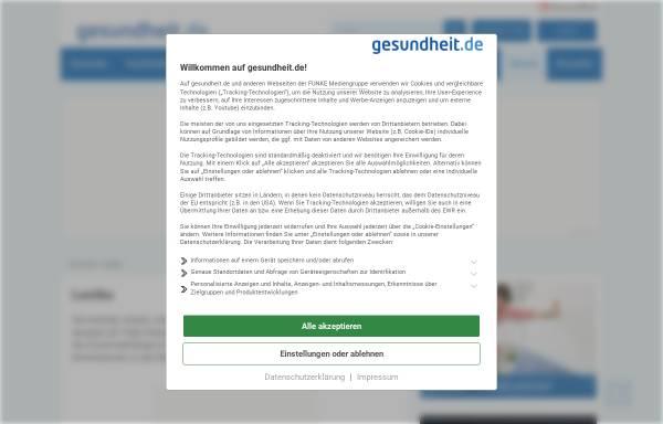 Vorschau von www.gesundheit.de, Roche Lexikon Medizin