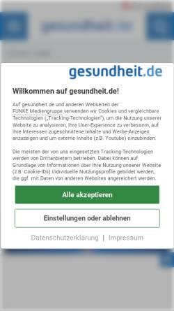 Vorschau der mobilen Webseite www.gesundheit.de, Roche Lexikon Medizin