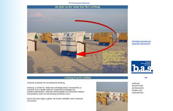 Vorschau von www.bas-germany.com, B.A.S. Beach Advertising System Germany GmbH
