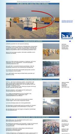 Vorschau der mobilen Webseite www.bas-germany.com, B.A.S. Beach Advertising System Germany GmbH