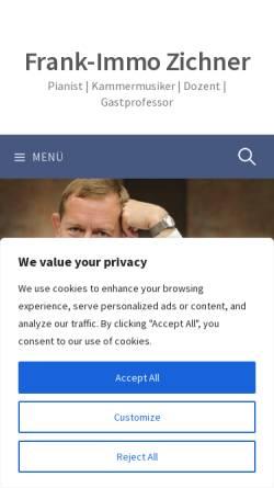 Vorschau der mobilen Webseite www.frank-immo-zichner.de, Zichner, Frank-Immo