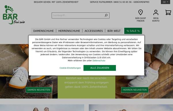 Vorschau von www.baer-schuhe.de, BÄR GmbH