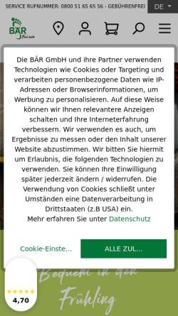 5fdbf84d59cb98 ... Vorschau der mobilen Webseite www.baer-schuhe.de