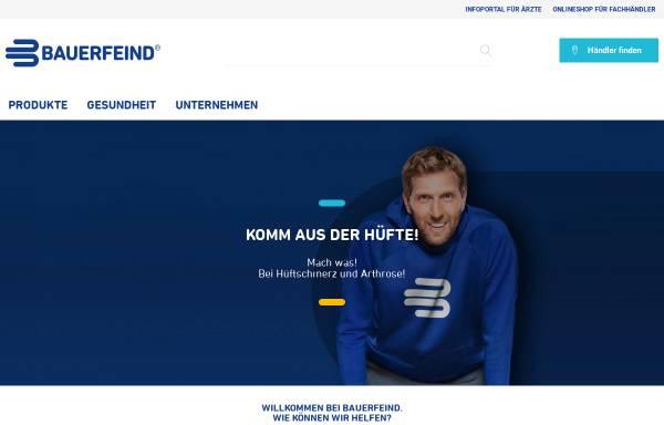 Vorschau von www.bauerfeind.de, Bauerfeind AG