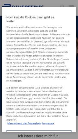 Vorschau der mobilen Webseite www.bauerfeind.de, Bauerfeind AG