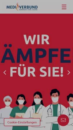 Vorschau der mobilen Webseite www.medi-verbund.de, MEDI Verbund Baden-Württemberg