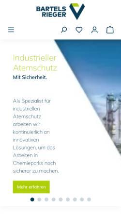 Vorschau der mobilen Webseite www.bartels-rieger.de, Bartels & Rieger GmbH & Co
