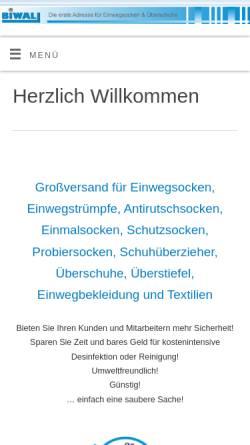 Vorschau der mobilen Webseite www.biwal.de, BIWAL Dienstleistungen Import/Export & Werbeagentur, Inh. Sven Grobecker