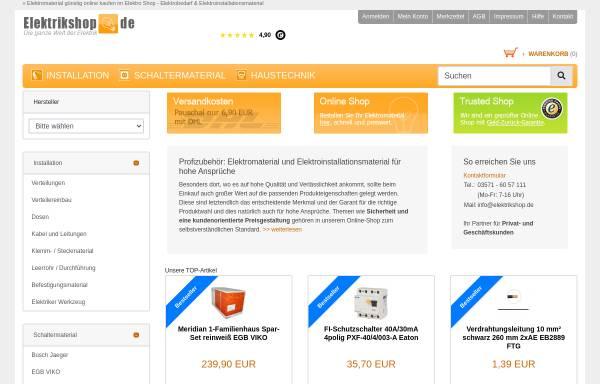 Vorschau von www.elektrikshop.de, Elektro Banz, Inh. Dieter Banz