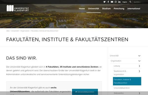 Vorschau von www.iff.ac.at, Fakultät für interdisziplinäre Forschung und Fortbildung der Universität Klagenfurt