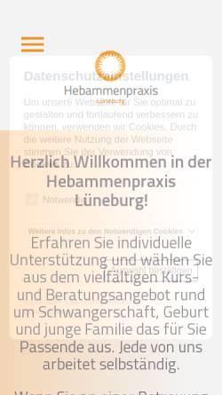 Vorschau der mobilen Webseite www.hebammenpraxislueneburg.de, Hebammenpraxis Lüneburg