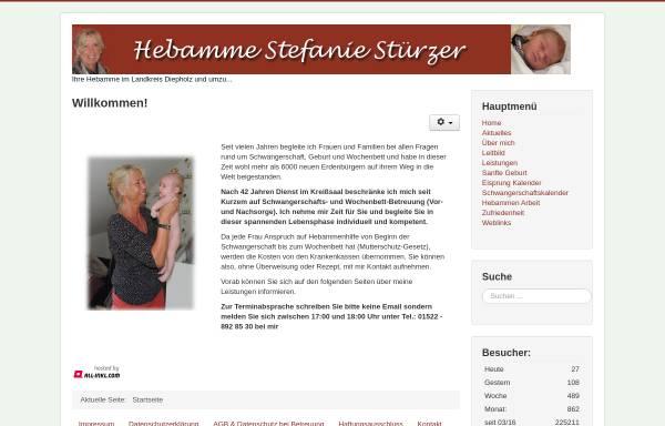 Vorschau von www.hebamme-diepholz.de, Hebamme Stefanie Stürzer