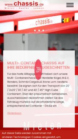 Vorschau der mobilen Webseite www.chassis.de, TBS GmbH