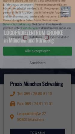 Vorschau der mobilen Webseite www.logomuc.de, Claudia Grönke