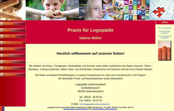 Vorschau von www.logopaedie-untermerzbach.de, Logopädie Untermerzbach