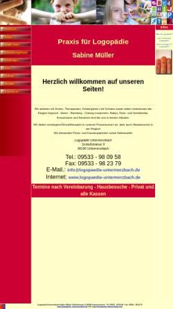 Vorschau der mobilen Webseite www.logopaedie-untermerzbach.de, Logopädie Untermerzbach