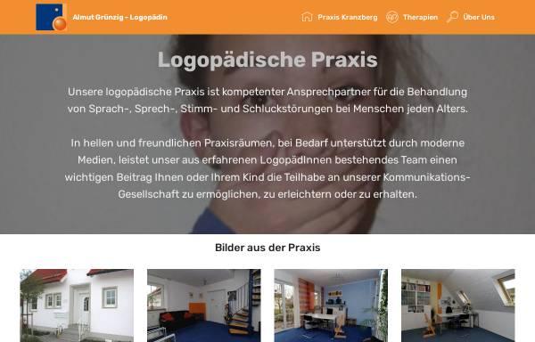 Vorschau von www.logopaedie-gruenzig.de, Logopädische Praxis Almut Grünzig