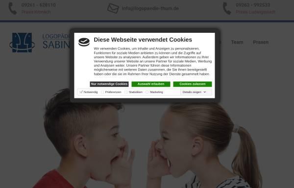 Vorschau von www.logopaedie-kronach.de, Logopädische Praxis Sabine Thum