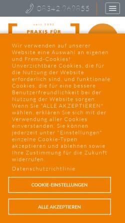 Vorschau der mobilen Webseite www.logopaedie-ostallgaeu.de, Logopädische Praxisgemeinschaft Marktoberdorf