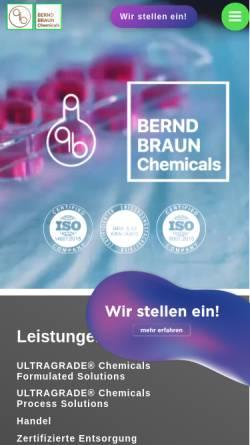 Vorschau der mobilen Webseite www.berndbraunchemicals.de, Bernd Braun