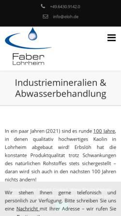 Vorschau der mobilen Webseite www.eloh.de, Erbslöh Lohrheim GmbH & Co. KG