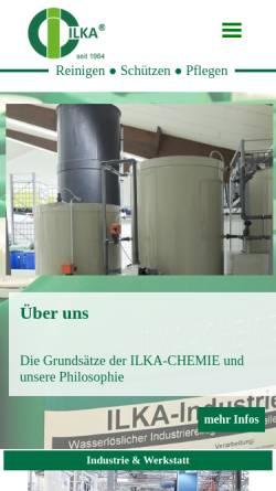 Vorschau der mobilen Webseite www.ilka-chemie.com, ILKA-Chemie GmbH