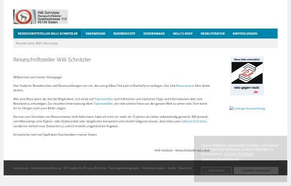Vorschau von www.willischnitzler.de, Willi's Reiseseite [Willi Schnitzler]