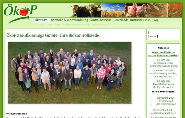 Vorschau von oekop.de, ÖkoP Zertifizierungs GmbH
