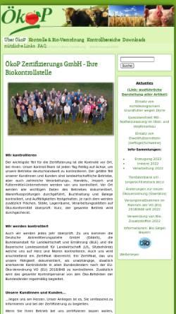 Vorschau der mobilen Webseite oekop.de, ÖkoP Zertifizierungs GmbH