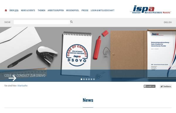 Vorschau von www.ispa.at, ISPA - Internet Service Providers Austria