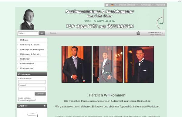 Vorschau von www.costumes.at, Kostümausstattung & Handelsagentur Hans-Peter Dicker