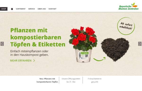 Vorschau von www.blumenzentrale.de, Bayerische Blumen Zentrale