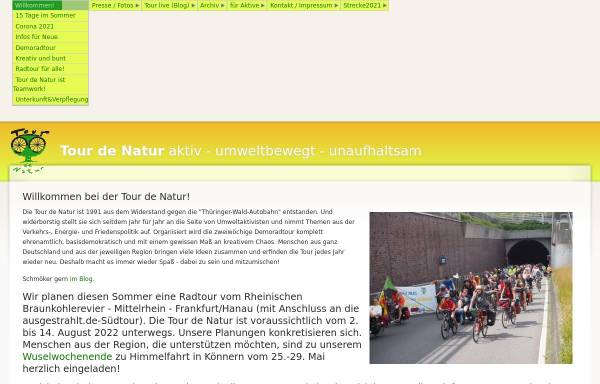 Vorschau von www.tourdenatur.net, Tour de Natur
