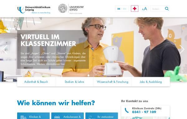 Vorschau von www.medizin.uni-leipzig.de, Universität Leipzig