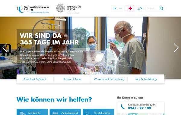 Vorschau von www.uniklinikum-leipzig.de, Universitätsklinikum Leipzig