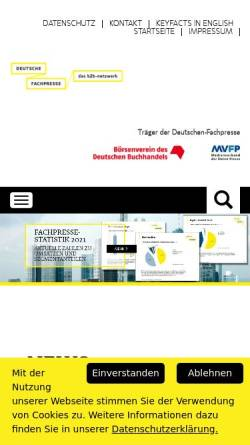 Vorschau der mobilen Webseite www.deutsche-fachpresse.de, Deutsche Fachpresse