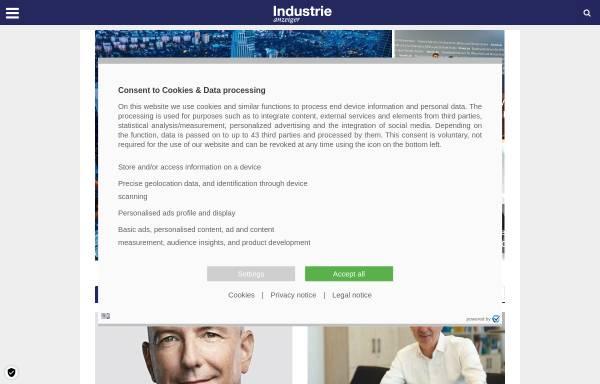 Vorschau von www.industrieanzeiger.de, Industrieanzeiger - Konradin Verlag Robert Kohlhammer GmbH
