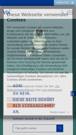 Vorschau der mobilen Webseite www.vdi-bs.de, IQ- Journal
