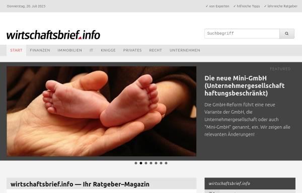 Vorschau von www.wirtschaftsbrief.info, Wirtschaftsbrief.info