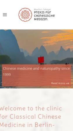 Vorschau der mobilen Webseite www.tcm-mitte.de, Praxis für Traditionelle Chinesische Medizin Zhong Yang