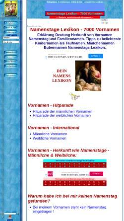 Vorschau der mobilen Webseite www.kirchenweb.at, Kirchenweb Vornamenlexikon
