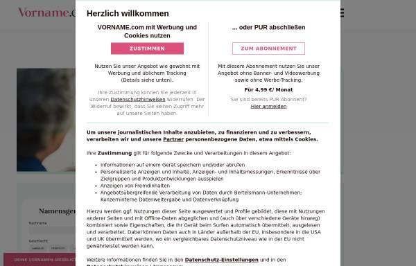 Vorschau von www.vorname.com, Vornamen - Adeos Media GmbH