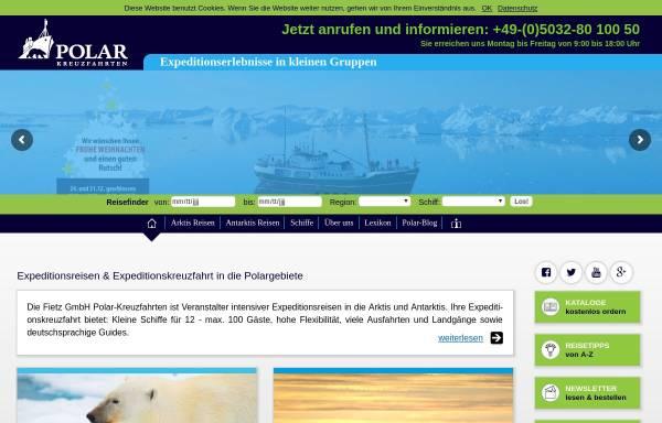 Vorschau von www.polar-kreuzfahrten.de, Fietz GmbH