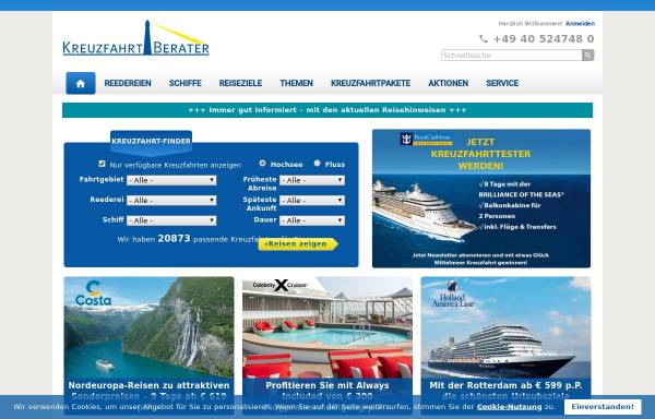 Vorschau von www.kreuzfahrtberater.de, Kreuzfahrtberater GmbH