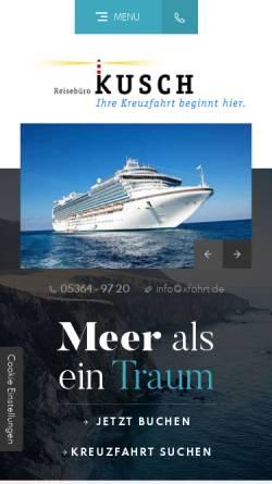 Vorschau der mobilen Webseite www.xfahrt.de, Reisebüro Kusch