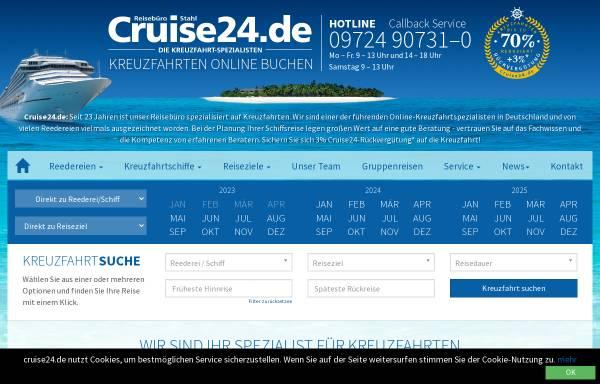 Vorschau von www.cruise24.de, Reisebüro Stahl