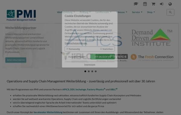 Production Management Institute [PMI] - APICS/USA-Vertretung in ...